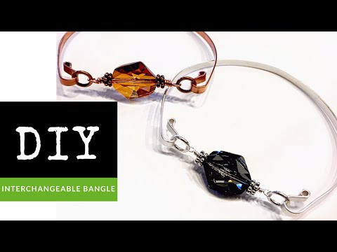 How To Make An Interchangeable Bead Wire Bangle Bracelet