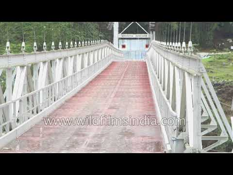Nubo Bridge near Yinkiong town in Arunachal Pradesh