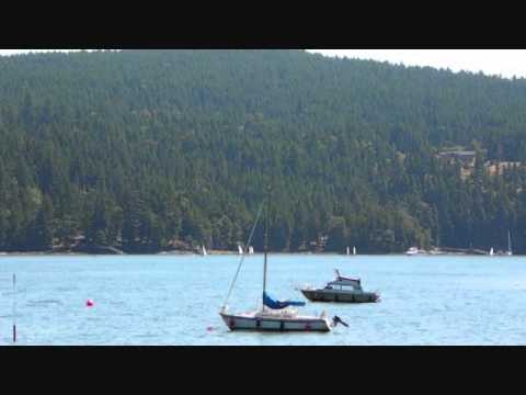 Time Lapse sail boat race. Maple Bay Vancouver Island Canada