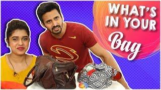 What's in Your Bag? | Sanskruti Balgude & Bhushan Pradhan | Marathi Movie