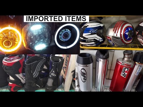 Best Motorcycle Imported Accessories[Exploring- helmets, Alloys, Riding Gears, Projectors, exhaust]