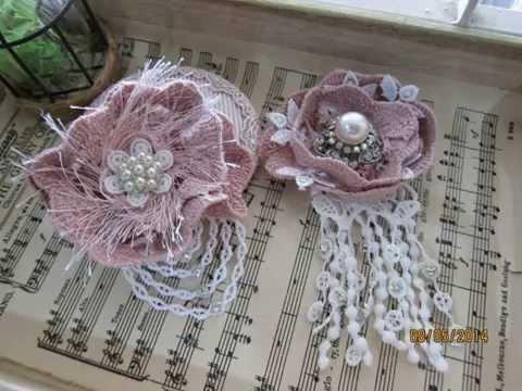 My handmade lace flower/head piece/Flower brooch-SOLD!!