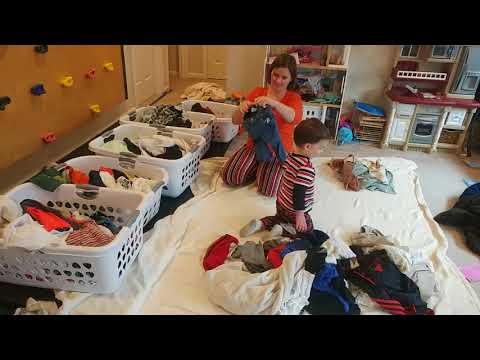 Blake Sorting Laundry!