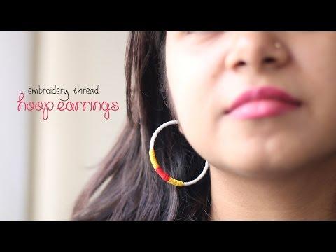 DIY: Embroidery Hoop Earrings