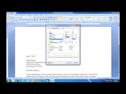 Microsoft Word 2007: Tour of the Ribbon