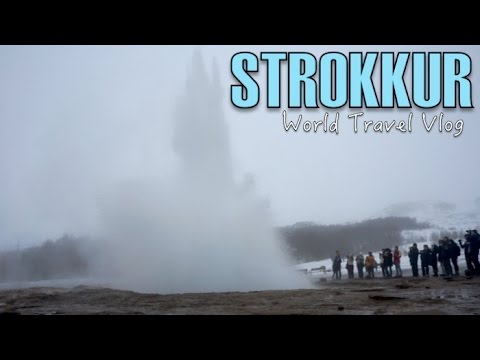 Getting soaked by the Strokkur Geyser : Golden Circle - ICELAND | World Travel Vlog