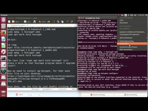 Setup WiFi hotspot for Android/Windows devices - Ubuntu 14.04
