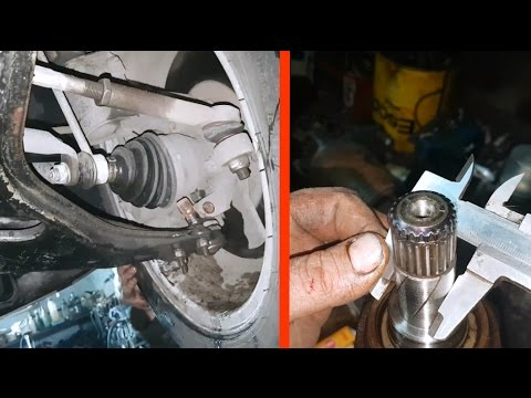 How to remove a drive shaft on Opel Astra H / Dismantling the drive shaft of the Opel Astra H