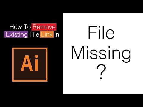 How to remove image link in illustrator cc - Adobe Illustrator Tutorial