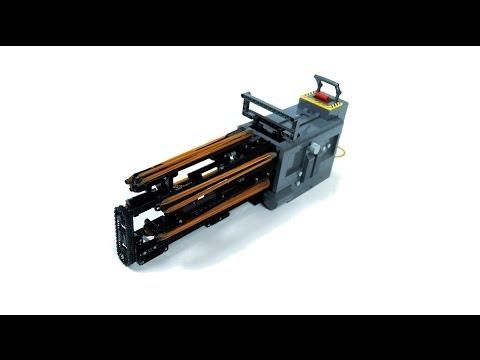 Lego Technic Motorized Minigun - 11 shots/second