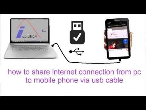 how to share internet connection from pc to mobile phone by usb cable