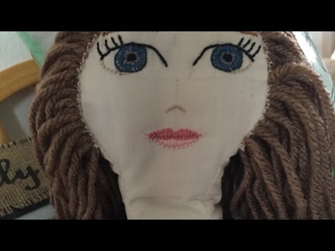 How To Sew Yarn Hair Onto Your Doll - DIY Crafts Tutorial - Guidecentral