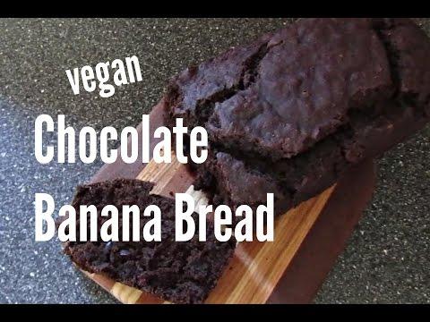 Vegan Chocolate Banana Bread | Gluten Free | No Oil!