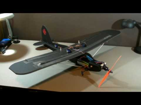 Scratch built Sport Trainer RC Airplane -