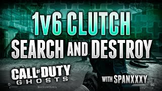 Ghosts : SnD 1v6 Clutch/Ace on Freight (Call of Duty Ghosts Search and Destroy Gameplay)