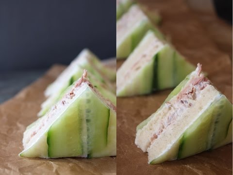 How To Make Tuna Cucumber Sandwiches - By One Kitchen Episode 746