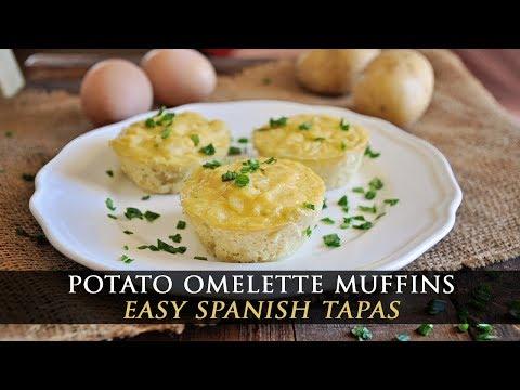 Spanish Potato Omelette Muffins - Tortilla Española Tapas