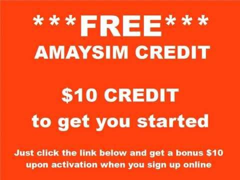 FREE Amaysim Credit