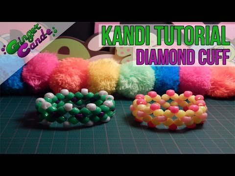 How to Make a Diamond Cuff (Style 1) - [Kandi Tutorial] | @GingerCandE