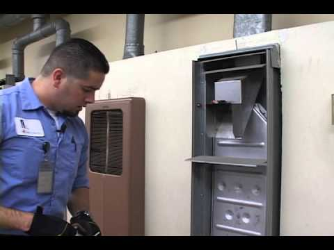 Wall Furnace Inspection Demonstration (with voice)