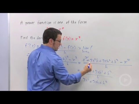 Derivatives of Power Functions