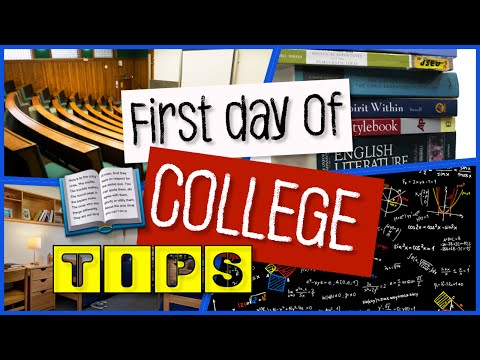 How To: Prepare for First Day of Class - College Tips
