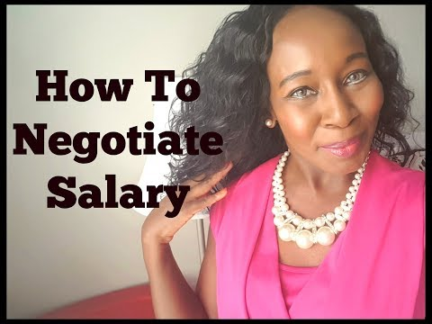 How To Negotiate Salary!
