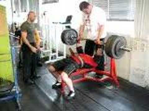 240 kg benchpress using a Fury shirt