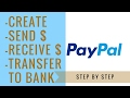 How To Set Up A Paypal Account | send, receive, and transfer money
