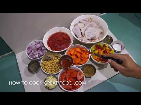 How to Make Chicken Stew Video Recipe - Chickpea Garlic Tomato