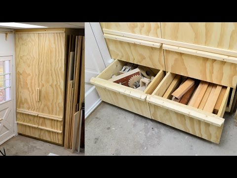 Making A Deep Shop Cabinet With Drawers, Part 3