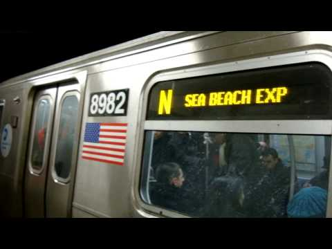 Stillwell Ave - Coney Island Bound R160B N Siemens Train @ Times Square - 42nd Street