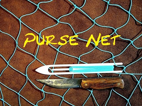 Purse Net - Net Making - How to Make a Shaped Purse Net - Easy to Follow Net Making Tutorial