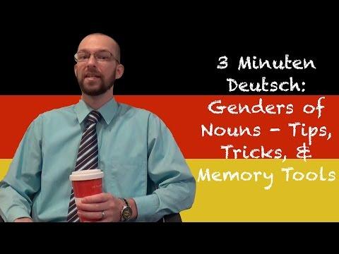 Genders of German Nouns: Tips, Tricks, & Memory Tools - 3 Minuten Deutsch Lesson #5 - Deutsch lernen