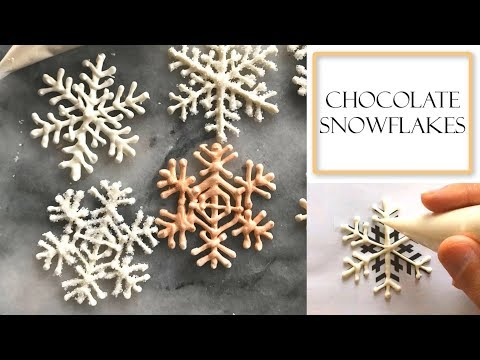 How to Make Chocolate Snowflakes | Using Candy Melts