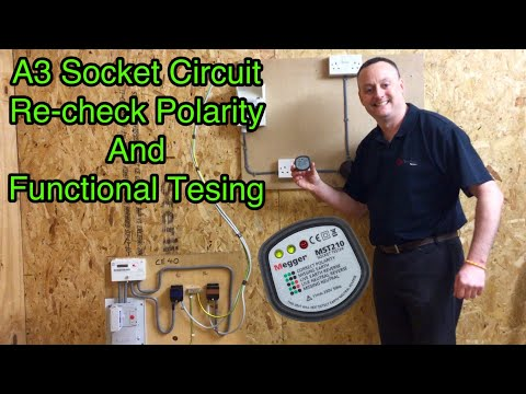 Our A3 Radial Socket Circuit Tested Live for Re-Checking Polarity and Functional Tests