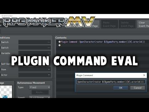 Plugin Command Eval Plugin - RPG Maker MV