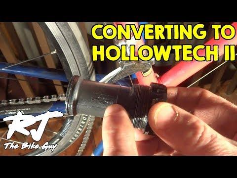 Convert From Square Taper to Hollowtech II Bottom Bracket/Crankset