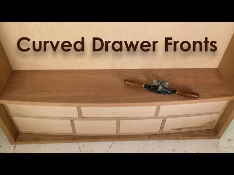 Curved Drawer Fronts (Woodworking Tool Cabinet Part 4)
