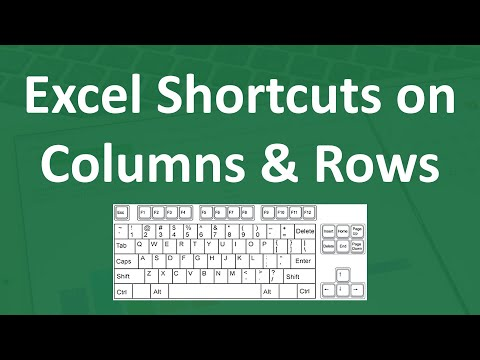 #6 Shortcuts On Editing Columns & Rows In very Short Time | Excel Shortcuts