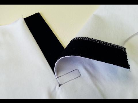Sewing course how to sew a polo shirt 2 ✂ ✂  ✂ Kurs szycia plisa polo koszulka z dzianiny