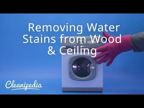 Removing Water Stains from Wood & Ceiling