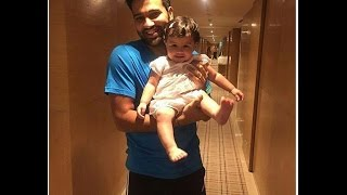 Rohit Sharma with Lovely Ziva Dhoni Cute Baby Unseen Personal Video
