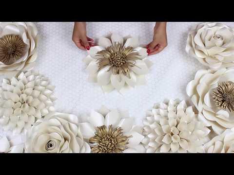 DIY Paper Flower Tutorial | My Wedding Backdrop Flowers | Template #5