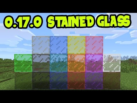 MCPE 0.17.0 UPDATE! SECRET STAINED GLASS BLOCKS!? - Stained Glass on Minecraft PE (Pocket Edition)