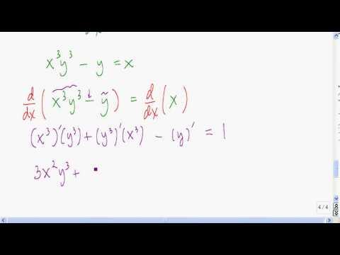 Implicit differentiation example