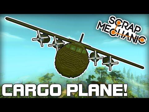 Massive Cargo Plane with Auto Stabilisation! (Scrap Mechanic #215)