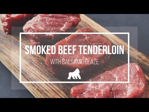 Beef Tenderloin with Balsamic Glaze | Grilla Pellet Smoker Recipe
