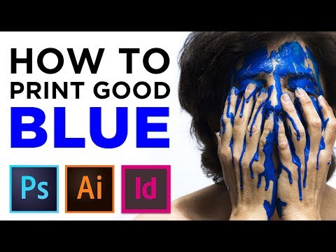 How to print good blue color in CMYK - Adobe Illustrator CC (or InDesign & Photoshop)