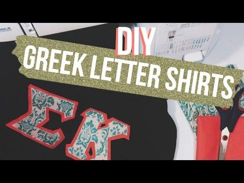 DIY Greek Letter Shirts   Dana Jean